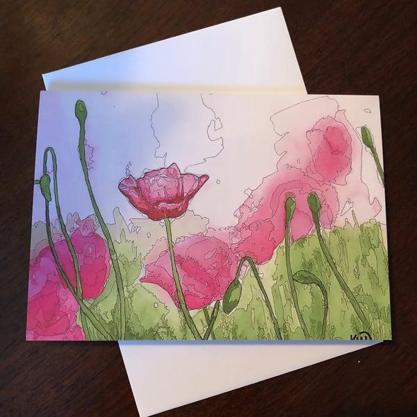 Pink Haze Card | Water+Ink Studios