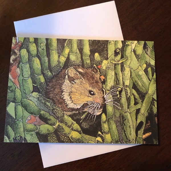 Marsh Mouse Card | Water+Ink Studios
