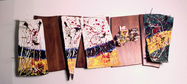 assemblage collage  abstract wall sculpture
