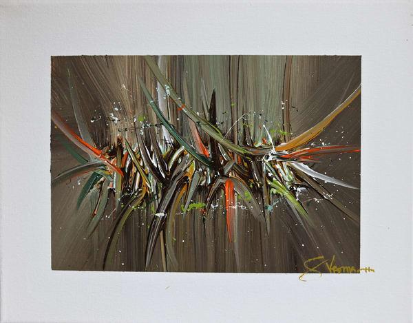 Acrylic on Canvas Abstract Painting Tropic Blaze