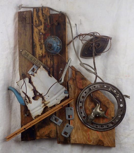 collage assemblage wall sculpture