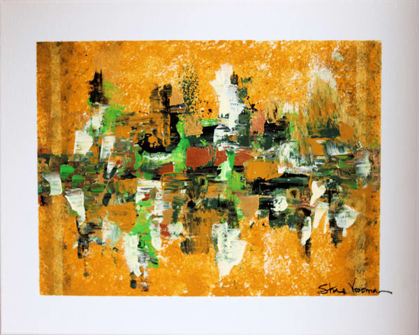 Original Acrylic on Canvas Abstract Painting Rooftop Gardens