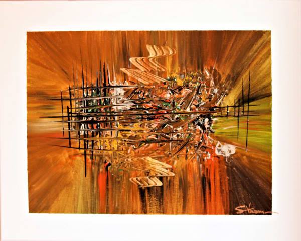 Acrylic on Canvas Abstract Painting Autumn