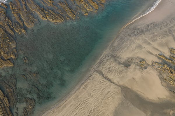 Tide Pool Aerial Photography Art | Kit Noble Photography
