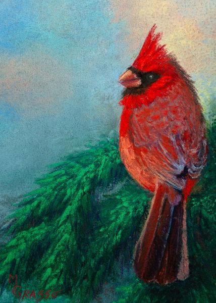 Cardinal   Original Art   Mark Grasso Fine Art