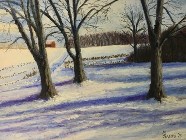Winter Shadows   Original Art   Mark Grasso Fine Art