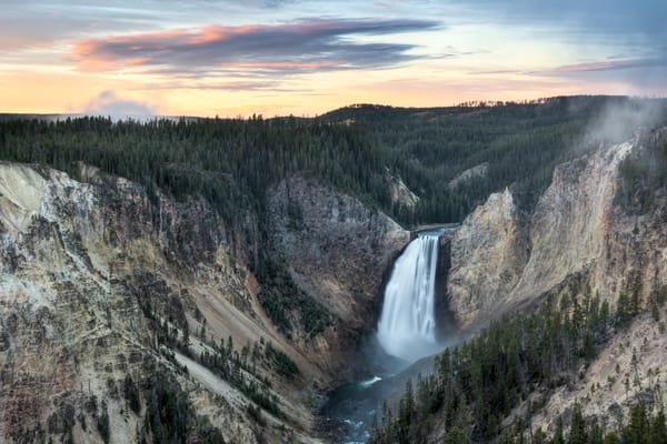 Dawn at Lower Falls