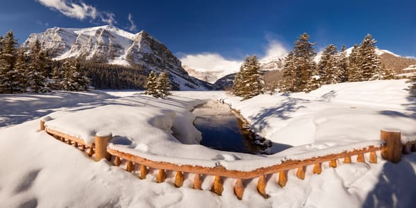 Lake Louise in winter. Banff National Park|Canadian Rockies|Rocky Mountains|