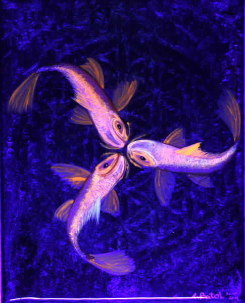 Tri Koi Fish Art   errymilart