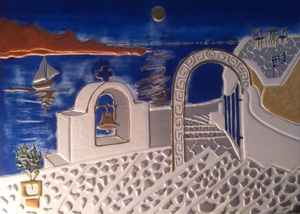 Santorini Oia Art | Alex Art Style