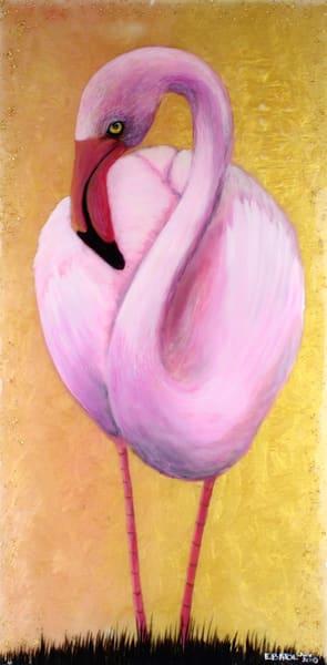 Pink Flamingo Art   errymilart