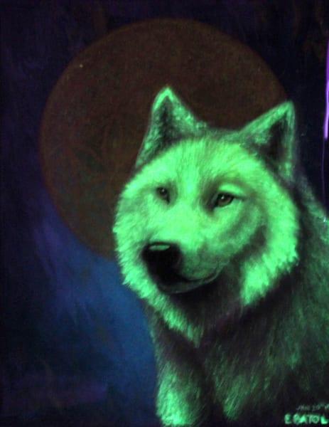 Blood Wolf Moon Art   errymilart