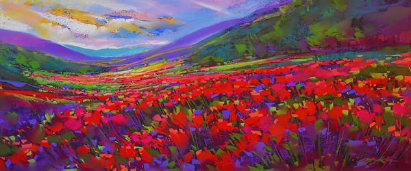 Crimson Fields Art | Michael Mckee Gallery Inc.