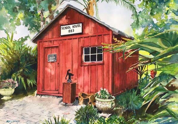 Old Schoolhouse-FIT Gardens - Framed Prints