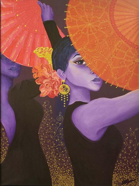 Flamenco Fans Art   TAVolgenau