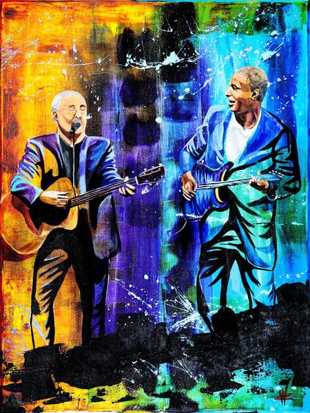 Bernie Williams and Paul Simon
