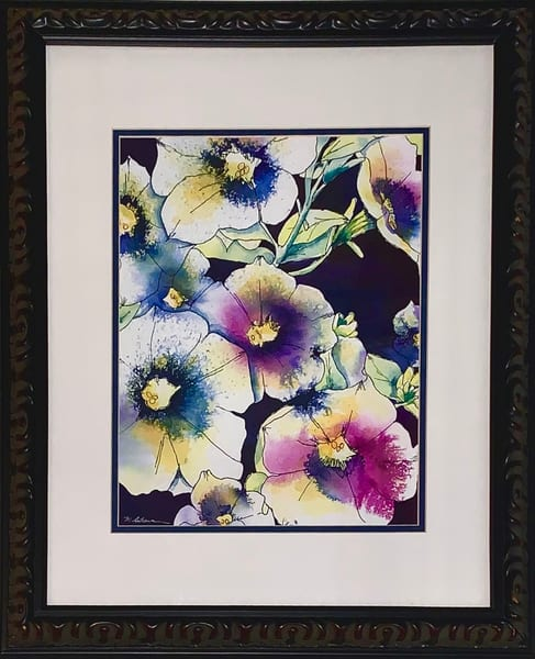 Purple Petunias Art | Mickey La Fave