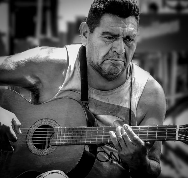 Guitarist On The Street Buenos Aires Photography Art | Dan Katz, Inc.