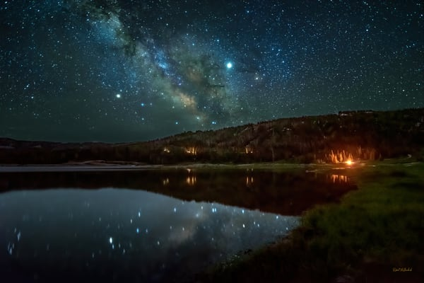 Campfire And Stars Photography Art | McKendrick Photography