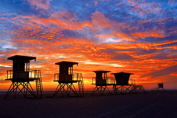 3 Generations Of Lifeguard Stands Art | Shaun McGrath Photography
