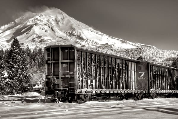 Rail Car And Mt Shasta Photography Art | Shaun McGrath Photography