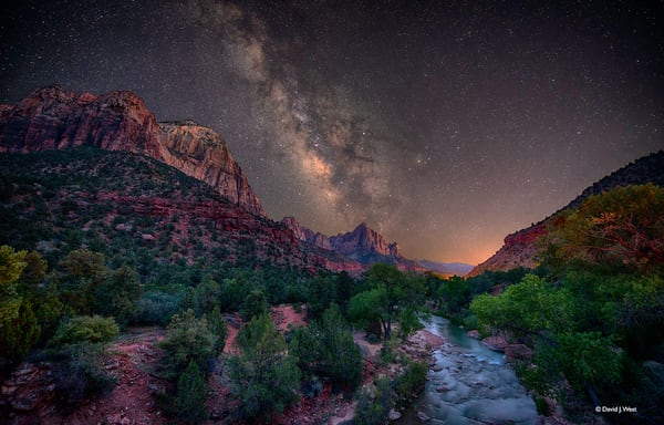 Starry Night Over Zion Art | David J. West Gallery