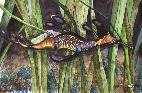 Leafy Sea Dragon 02 Art | Water+Ink Studios