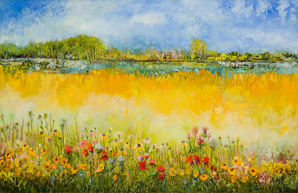 Chicago Commissioned  Wildflower Garden Oil