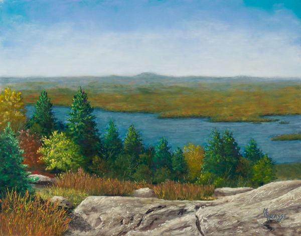 Mountaintop Autumn Grandeur   Original Art | Mark Grasso Fine Art