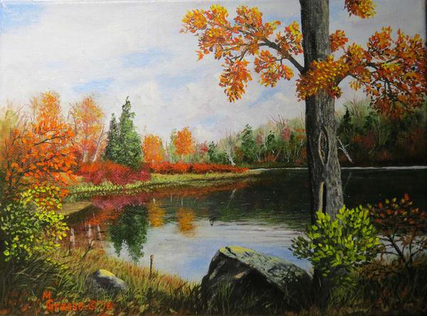 Autumn Reflections   Original Art   Mark Grasso Fine Art