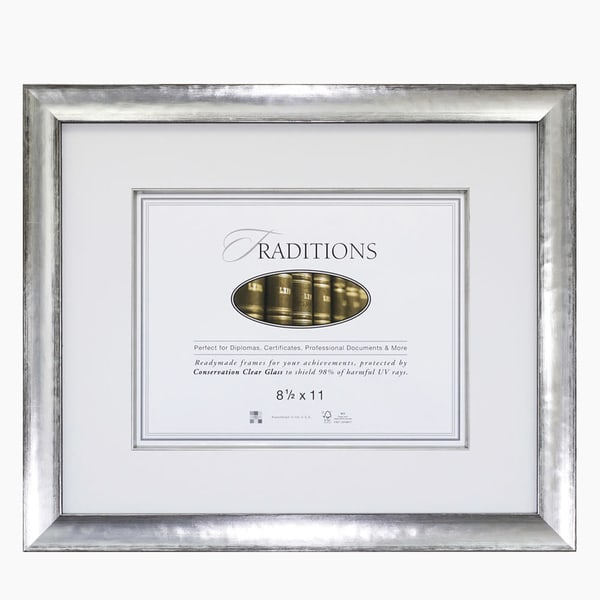 Silver Document Frame
