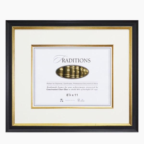 Black & Gold Document Frame