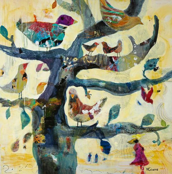 Birds in a tree print