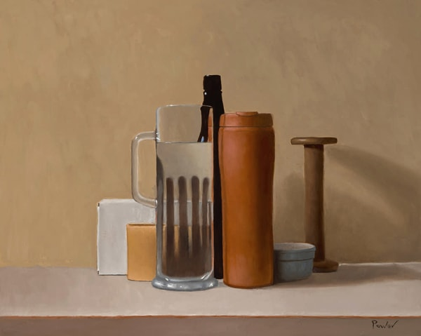 Glass Mug with Flask