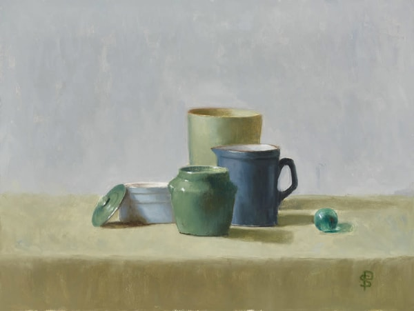 Study In Blue And Green Art | Fountainhead Gallery