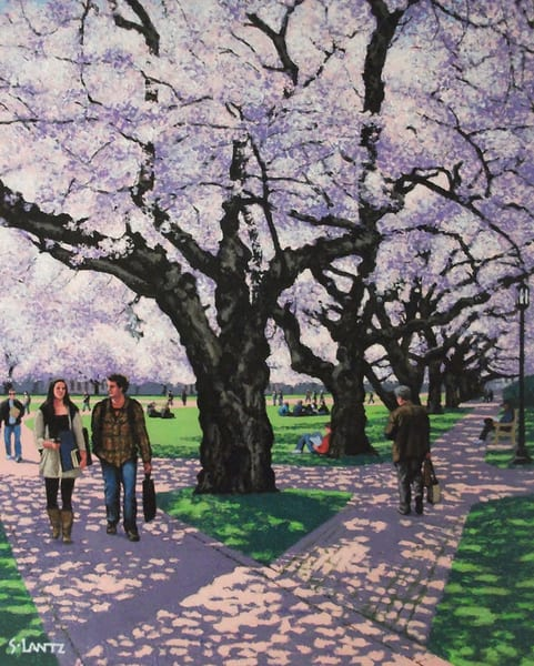 Under Cherry Trees Art | Fountainhead Gallery