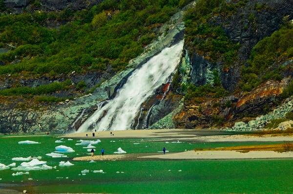 Mendenhall Glacier Falls Art | DocSaundersPhotography