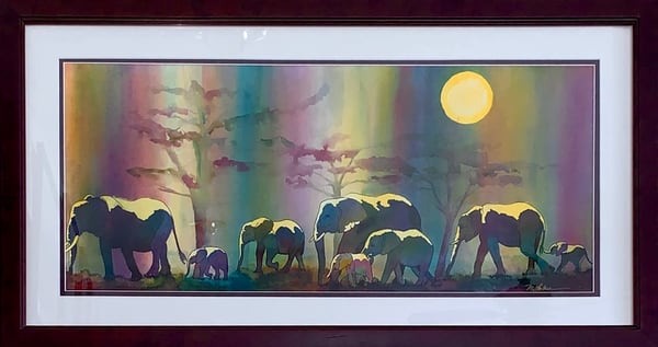 Moonlit Elephants Art | Mickey La Fave