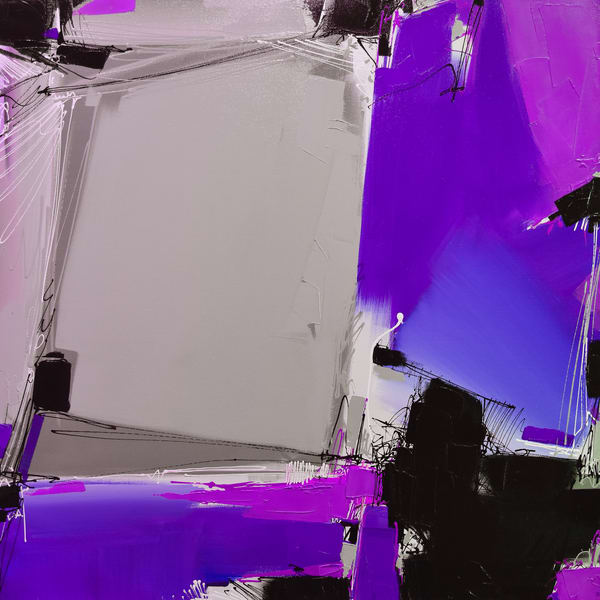 Quartertone In Violet Art | Michael Mckee Gallery Inc.