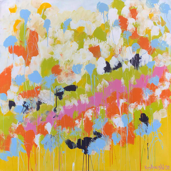 Butterflies In Spring Original Painting Art | Maciek Peter Kozlowski Art