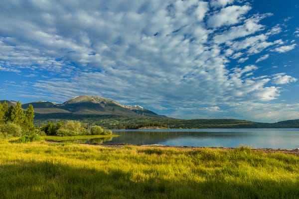 Lake Dillon and Buffalo Mountain near town of  Frisco, Colorado, Summer