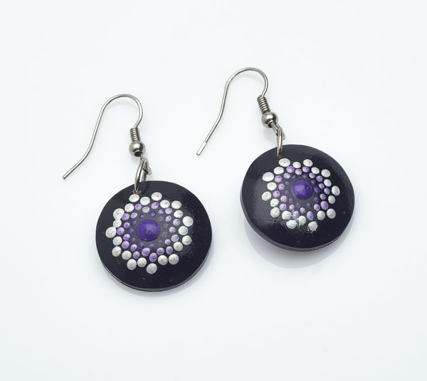 Purply Mini Circle Earrings (B)