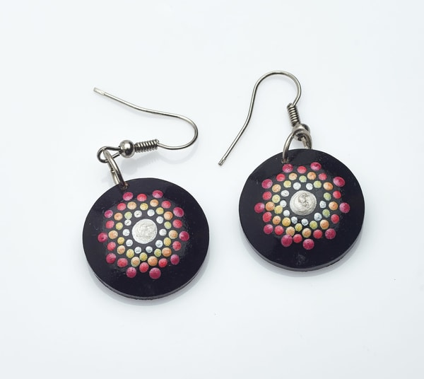 Warm Mini Circle Earrings (C)
