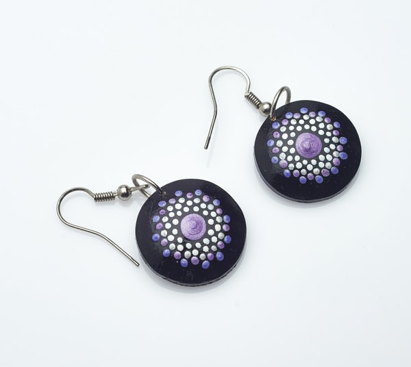 Mini Circle Earrings (D) Jewel