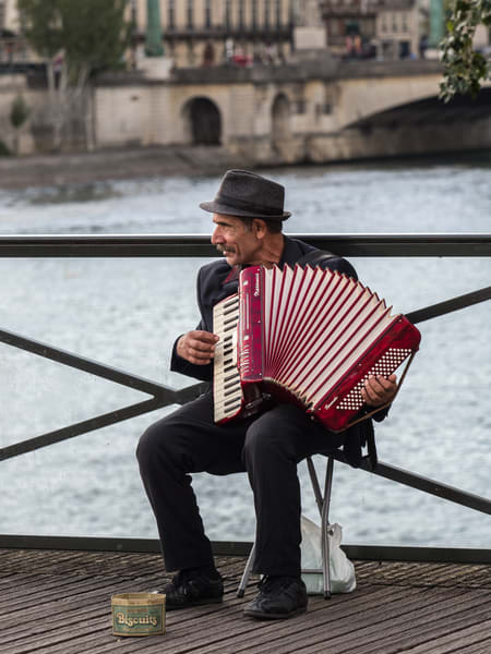 Accordion Player, Paris/sold by Ben Asen Photography