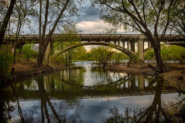 Redings Mill Bridge Reflection 7258 | Wildcat Glades Joplin Missouri Photograph | Koral Martin Fine Art Photography