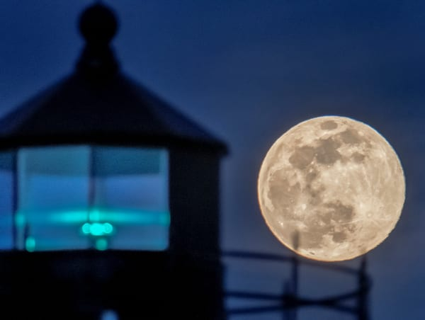 East Chop Light Spring Supermoon Art | Michael Blanchard Inspirational Photography - Crossroads Gallery