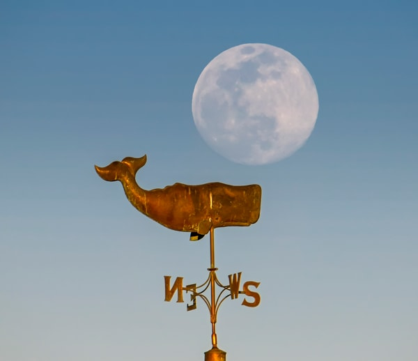 Bandstand Windvane Moon Art | Michael Blanchard Inspirational Photography - Crossroads Gallery