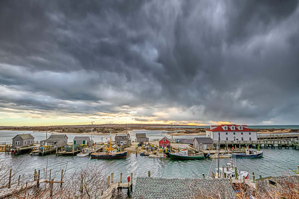 Menemsha Squall Photography Art | Michael Blanchard Inspirational Photography - Crossroads Gallery