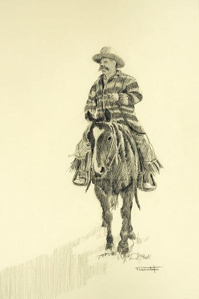 "Raymond Wattenhofer Original Art Drawing ""Andy Lightfeather""."